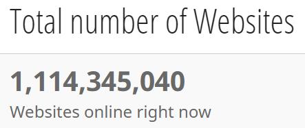 numero totale di siti web