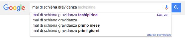 Google suggest esempio